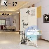 屏風 小戶型屏風隔斷租房臥室遮擋家用客廳辦公室行動折疊簡易布藝折屏T 1色