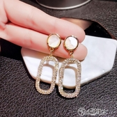 耳環 耳釘女純銀氣質韓國高級感耳環2019新款耳夾冷淡風耳飾復古