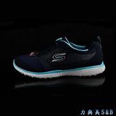 【超輕量】SKECHERS 女休閒運動慢跑鞋 Microburst 超輕量材質 穿著無負擔 深藍色鞋面  【1389】
