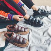 冬季加絨保暖麵包鞋男韓國ulzzang一腳蹬厚底棉鞋休閒bf風雪地靴 好再來小屋