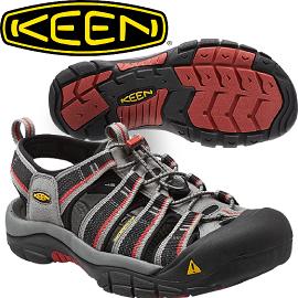 【KEEN 美國 NEWPORT H2 男款 護趾涼鞋〈深灰/紅〉】1014182/護趾涼鞋/水陸涼鞋/涼鞋/休閒涼鞋