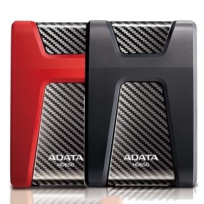 ADATA威剛 HD650 1TB USB3.0 2.5吋行動硬碟(紅/黑)