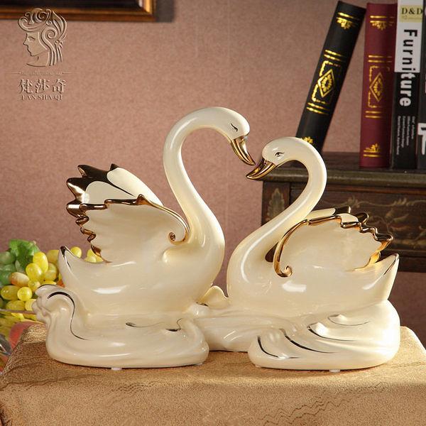 歐式陶瓷天鵝