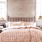☆雙人薄床包含枕套☆100%精梳純棉5x6.2尺《華夫》