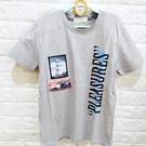 棒棒糖童裝(A88367)夏男大童灰色個性休閒款上衣 120-170