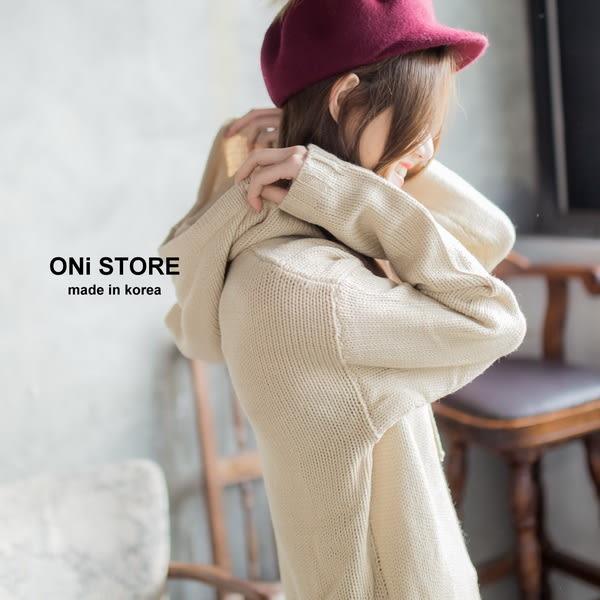 青春洋溢- 連帽抽繩針織毛衣 - ONi STORE - 428309