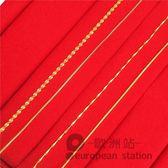 項鍊/鍍金鎖骨鏈女仿真水波紋飾品「歐洲站」