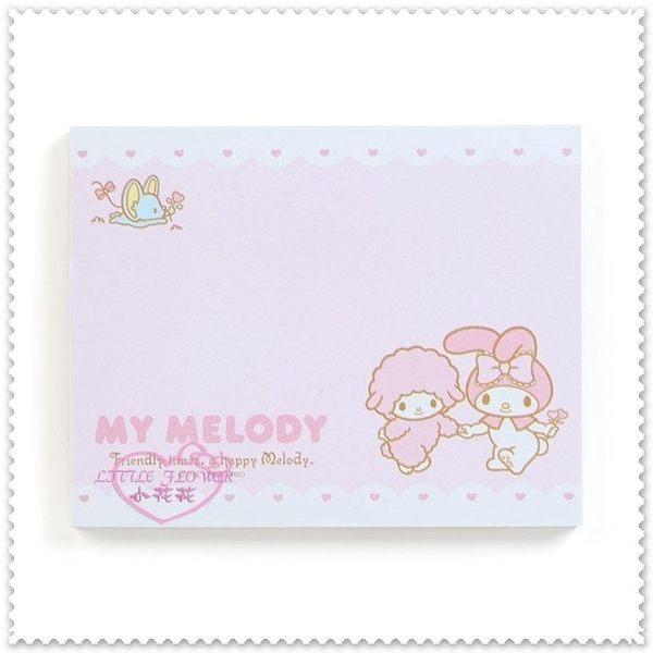 小花花日本精品♥My Melody 美樂蒂 小老鼠 小綿羊 粉色 蝴蝶結 桌上型 置物盒 收納盒+便條紙62021807