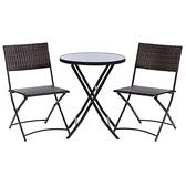 特力屋米羅一桌二椅組-圓桌(戶外家具)