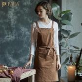 圍裙 韓版時尚定制LOGO廚房烘焙咖啡餐廳防油男女棉質工作圍裙-三山一舍