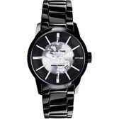 Relax Time RT62系列 人動電能地球腕錶-銀x黑/45mm RT-62-1