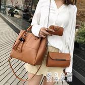2019新款女包包新款簡約時尚手提子母包三件套單肩包斜挎包CY2119【優品良鋪】