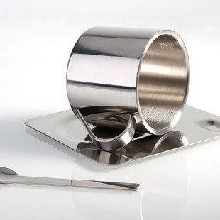 不鏽鋼保溫咖啡杯碟套裝