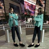 中大尺碼大碼女裝L-4XL秋裝 毛衣褲子減齡洋氣網紅顯瘦套裝兩件套3F057.6505韓依紡
