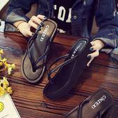 拖鞋女夏時尚厚底人字拖防滑外穿沙灘鞋海邊度假高跟女涼拖【卡米優品】