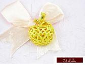 9999純金 黃金金飾 墜飾 甜蜜造型 蔞空 鑽沙 黃金蘋果 金蘋果 小蘋果  墜飾