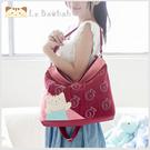 側背包~Le Baobab日系貓咪包 啵啵貓水中樂園兩用包/肩背包/手提包/拼布包包