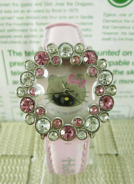 【震撼精品百貨】Hello Kitty 凱蒂貓~手錶-粉鑽花【共1款】