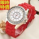 鑽錶-獨一無二明星款奢華女手錶5色5j103【巴黎精品】