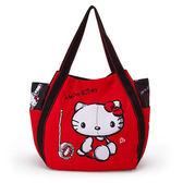 【KP】Hello Kitty 漫畫風大容量船型包 手提袋 正版日本進口授權 4582135130860