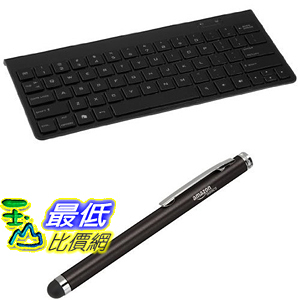 [106美國直購]  AmazonBasics Bundle鍵盤 觸控筆 Bluetooth Keyboard plus Capacitive Stylus
