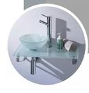 【麗室衛浴】歐化盆系列  強玻盆組/不鏽鋼架 C2