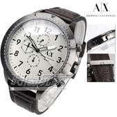 A|X Armani Exchange AX1757 韓風 三眼多功能計時碼錶 數字休閒皮帶錶 男錶
