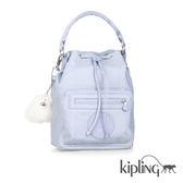 Kipling 寧靜藍素面手提側背包-中