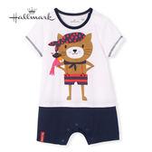 Hallmark Babies 竹系列冒險海盜貓春夏男嬰短袖連身衣 HH1-B74-08-BB-PN