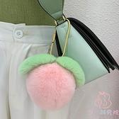 鑰匙扣獺兔粉嫩包包掛件桃心掛件【少女顏究院】