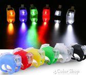 自行車燈青蛙燈夜騎兒童滑板車LED警示燈尾燈裝飾山地車裝備前燈     color shop