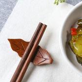 ✭慢思行✭【P203】樹葉造型木質筷子托  托筷枕 筷架 筷拖 餐桌 勺子架 筷子架 湯匙餐具