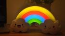 卡通創意彩虹小夜燈夢幻光控喂奶床頭兒童房寶寶