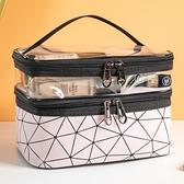 網紅化妝包女ins風超火小號便攜簡約洗漱包盒大容量旅行化妝品袋 韓美e站