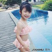韓版新款兒童泳衣精美公主蕾絲女