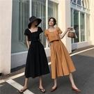 實拍3803#洋氣復古長裙子夏棉麻套裝女網紅上衣兩件套控價不低于5