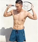 泳褲男防尷尬寬鬆速幹男士遊泳褲平角泳衣套裝沙灘褲溫泉遊泳裝備