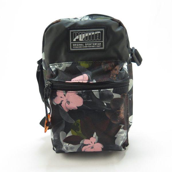 PUMA ACADEMY 小側背包(N) 斜背包 正貨 07573414 暗色花卉【iSport愛運動】