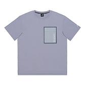 KANGOL 中性款灰色邊框大口袋休閒短袖上衣-NO.6121100682