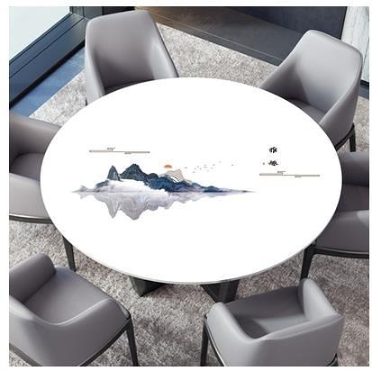 圓形桌布 圓桌桌布防水防油防燙PVC圓形餐桌台布軟玻璃塑料大理石茶幾桌墊【全館免運】