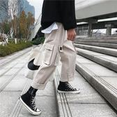 工裝褲韓版潮牌褲子男春季寬鬆束腳褲直筒休閒褲潮流百搭工裝褲 coco衣巷