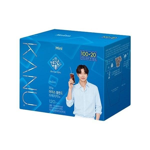 韓國 Maxim KANU冰風暴美式即溶咖啡(1gx120入/盒) 無附杯子【小三美日】