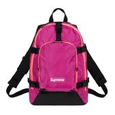 【現貨秒寄】Supreme backpack 47TH FW19 WEEK1 後背包 粉紫 黑背帶 紫標 休閒 運動 FW19B8