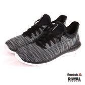 Reebok 新竹皇家 Print 黑色 織布 套入式 慢跑鞋 女款 NO.I8367