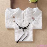 童裝新品韓版春秋款女童打底衫白色兒童純棉翻領長袖t恤上衣