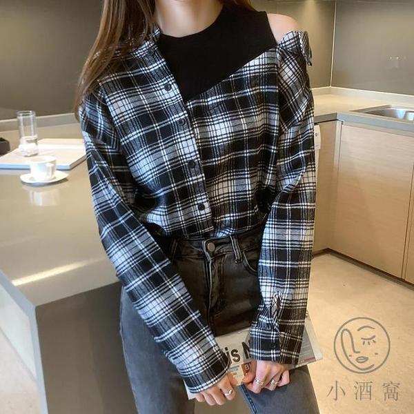 日系女衛衣百搭POLO衫寬鬆長袖上衣【小酒窩服飾】