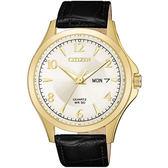 【送!!電影票】CITIZEN 星辰 質感爍光經典時尚腕錶/ 黑金 男款 BF2003-25A 公司貨保固 石英錶 熱賣中!