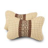 汽車頭枕車載車用冰絲頸枕座椅頸椎枕頭一對護頸靠枕車內飾品用品   LannaS