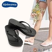 夾腳拖女外穿韓版時尚沙灘鞋海邊防滑坡跟厚底夾趾中跟涼拖鞋【淘夢屋】