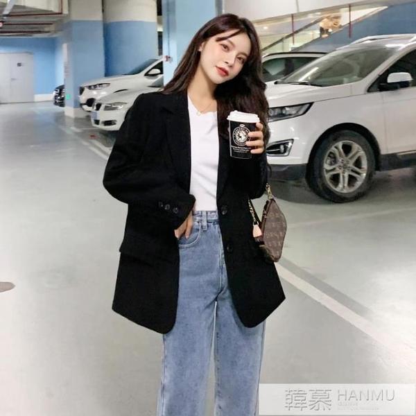 網紅小西裝2020新款外套女春秋ins韓版炸街設計感套裝小個子西服 牛轉好運到